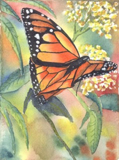 See the Light free watercolor butterfly art lesson for newsletter subscribers