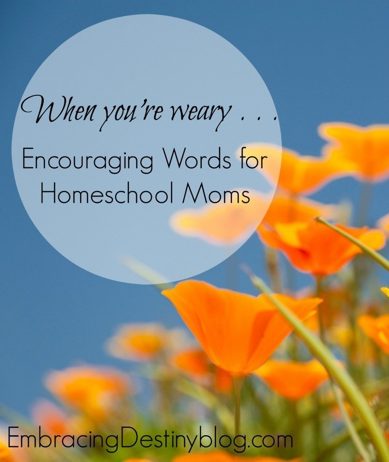 Encouraging Words for Weary Homeschool Moms