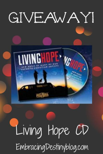 Living Hope CD from Pizza Ranch - review & giveaway, ends 8-8 at midnight