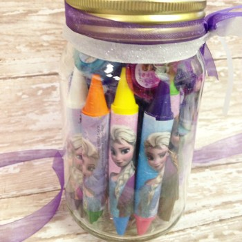 Frugal DIY Frozen Themed Gift Jar
