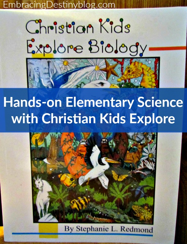 Hands-on elementary science with Christian Kids Explore Biology ~ look at all the fun science we've done! embracingdestinyblog.com