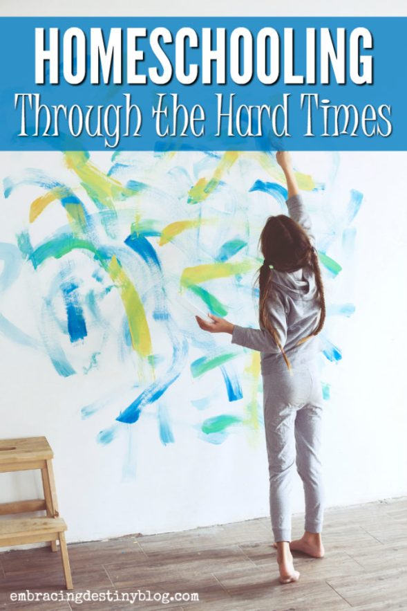 Feeling overwhelmed by homeschooling and motherhood? Those days are bound to happen, but here is some encouragement for getting through the hard times. embracingdestinyblog.com