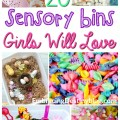 20+ sensory bins for girls. Adorable themes, including ponies, flowers, princesses, and more! Perfect for hands-on homeschooling. embracingdestinyblog.com