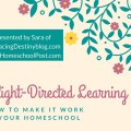 Delight Directed Learning: 7 Ways to Make it Work in your Homeschool. A session in the 2016 Digital Homeschool Convention. Presented by Sara of embracingdestinyblog.com and hsbapost.com