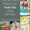 Do you have creative kids? You'll want to check out these fun arts & crafts projects for kids using 3D pens. embracingdestinyblog.com