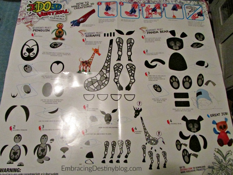 IDO3D 3D pens arts and crafts for kids