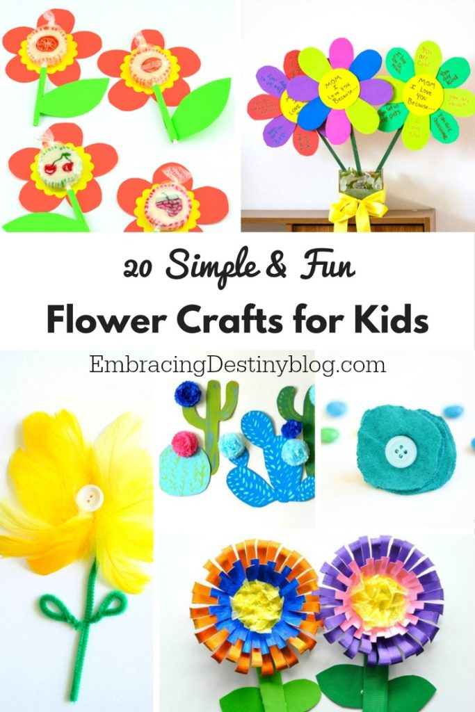 Fun & Simple Flower Crafts for Kids | arts and crafts for kids | spring and summer crafts