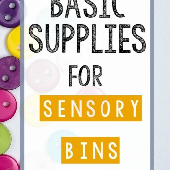 Sensory Bins for Hands-On Homeschooling