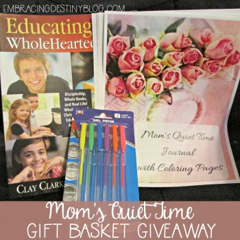 Mom's Quiet Time Gift Basket Giveaway