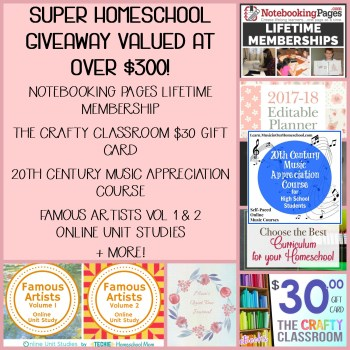 Blog Birthday Bash Super Homeschool Giveaway!