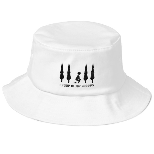 I Poop In The Woods Funny Camping Old School Bucket Hat - Embracing ... 002fa55399a