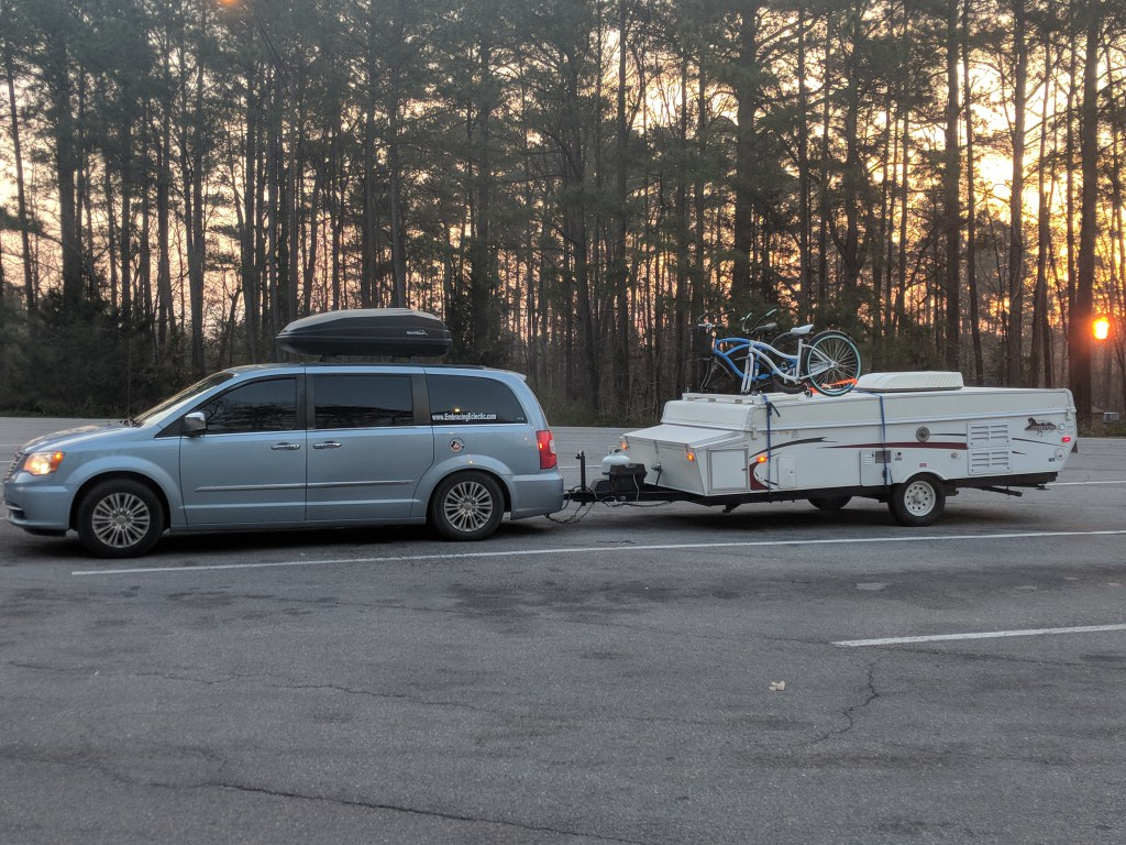 Towing A Pop Up Full Time With Our Chrysler Town And Country