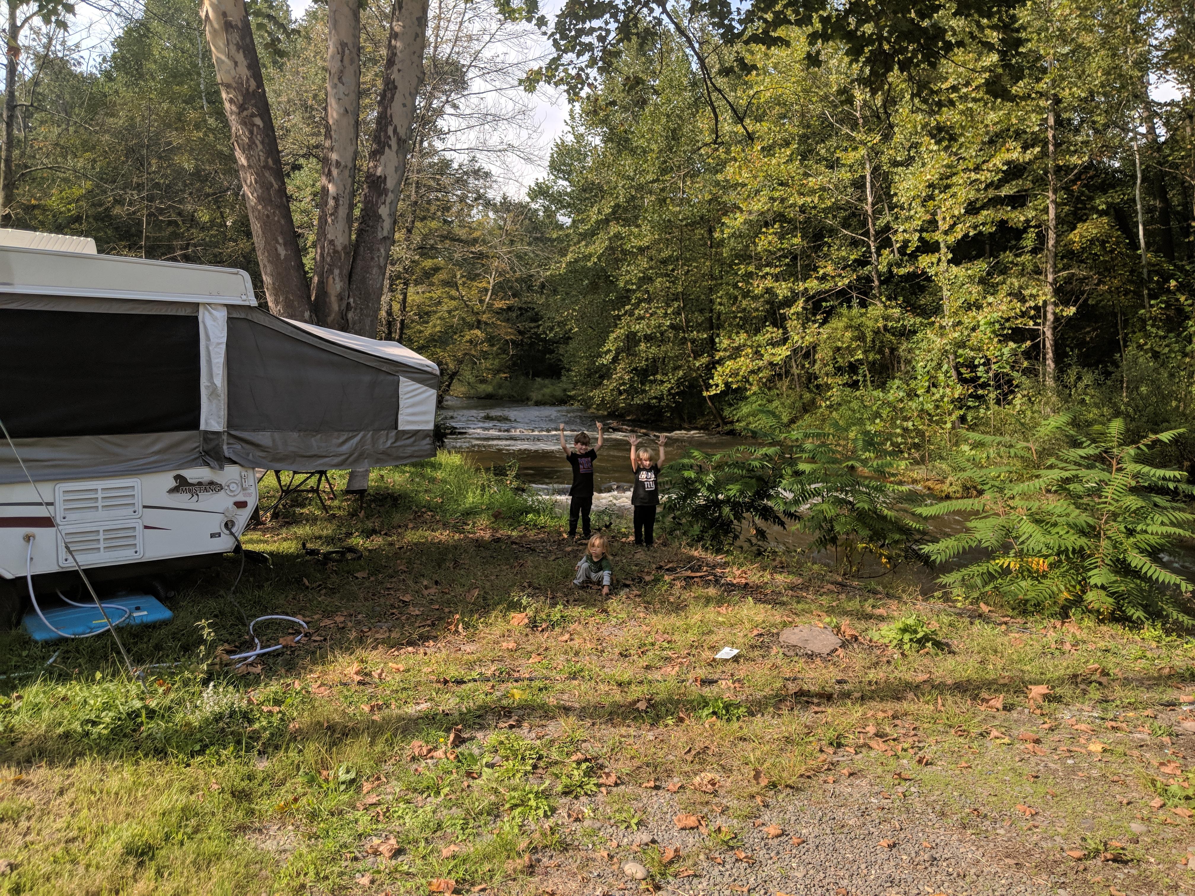 Camping In The Rain Full Time In A Pop Up Camper - Embracing