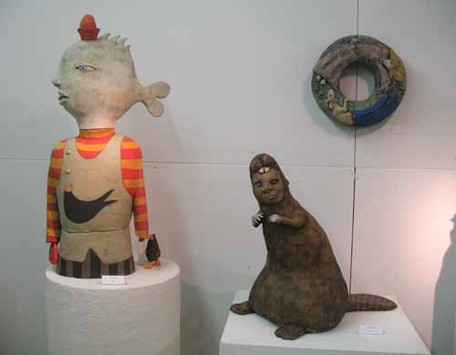 Sara Swink's engaging clay sculptures