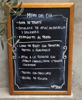 El menú