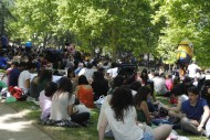The crowd at the Pradera de San Isidro