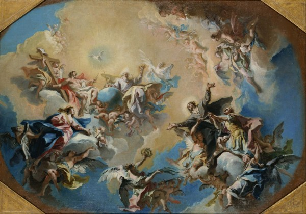 Religious Art Depiction Of Heaven And Hell