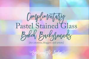 Complimentary Pastel Stained Glass Bokeh Backgrounds