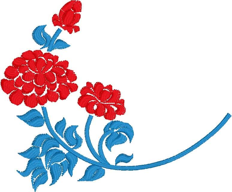 chrysanthemum free embroidery design