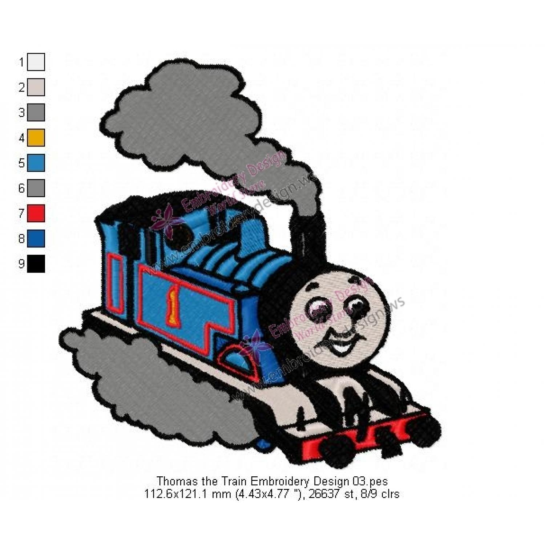 thomas the train embroidery