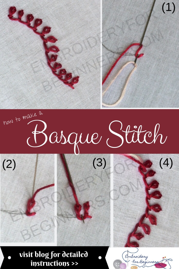 learn how to basque stitch with step by step pictures