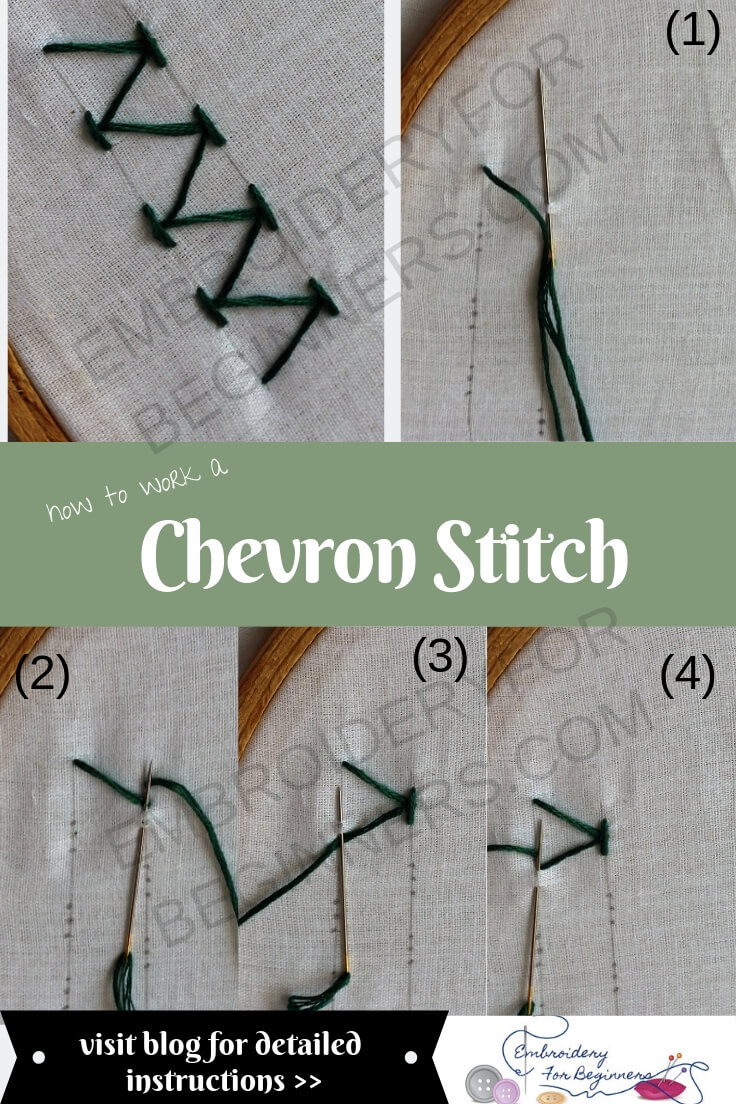 learn how to work a chevron stitch with step by step pictures