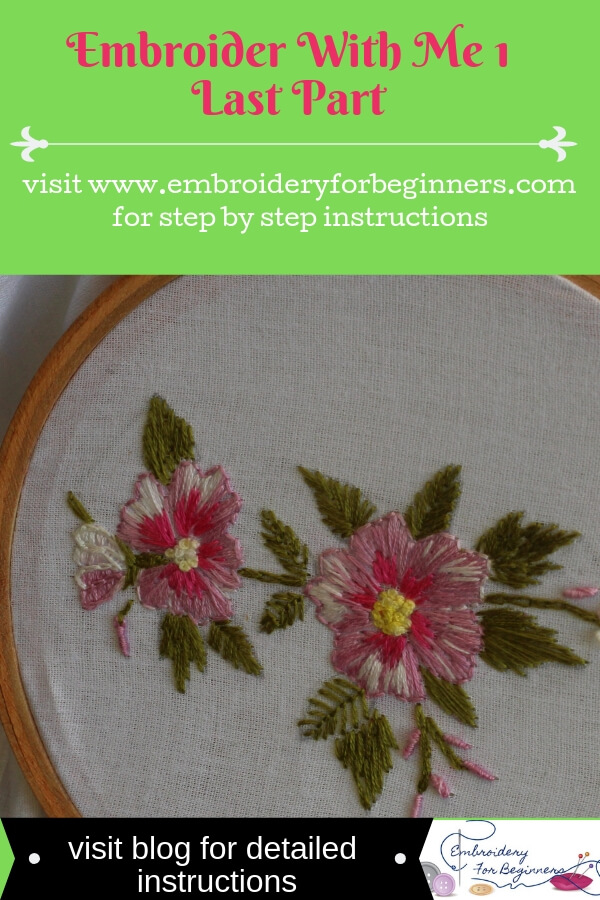 visit blog for detailed instructions to embroider with me
