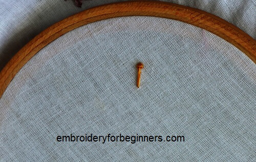 a single long french knot