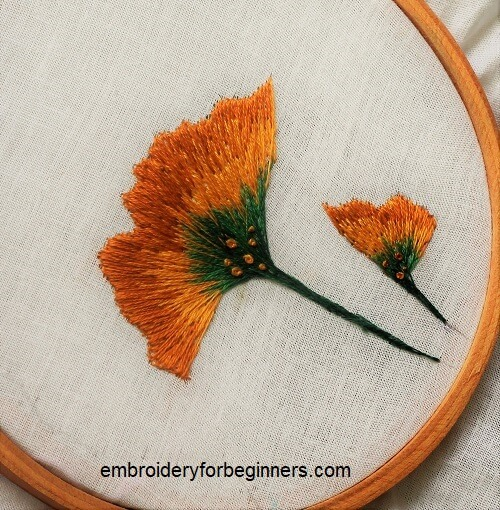 Embroider Along With Me 3) Ginkgo Leaves | Embroidery For Beginners
