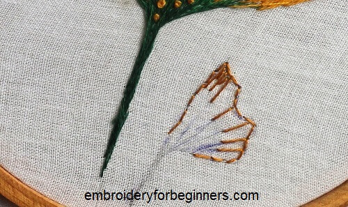 embroidering the long and short stitch