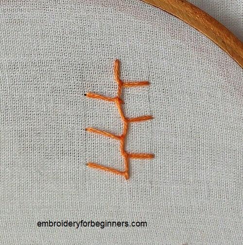 straigth cretan stitch