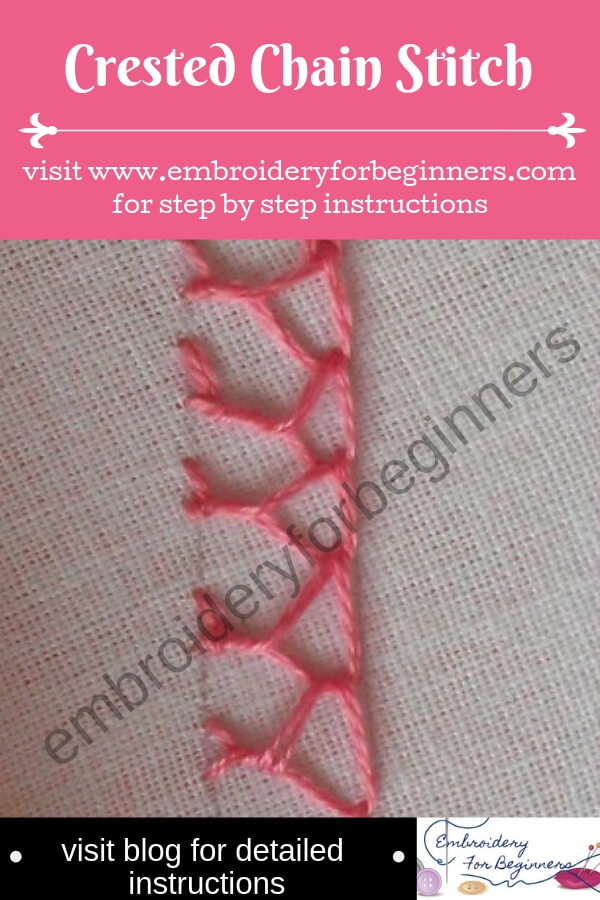 visit blog for detailed instructions for working the crested chain stitch