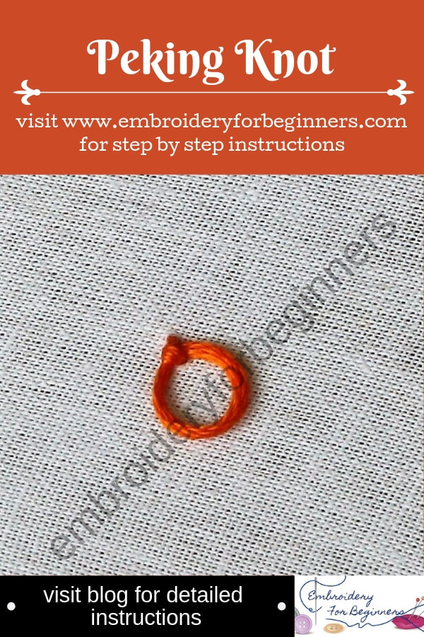 visit blog for detailed instructions for working the peking knot