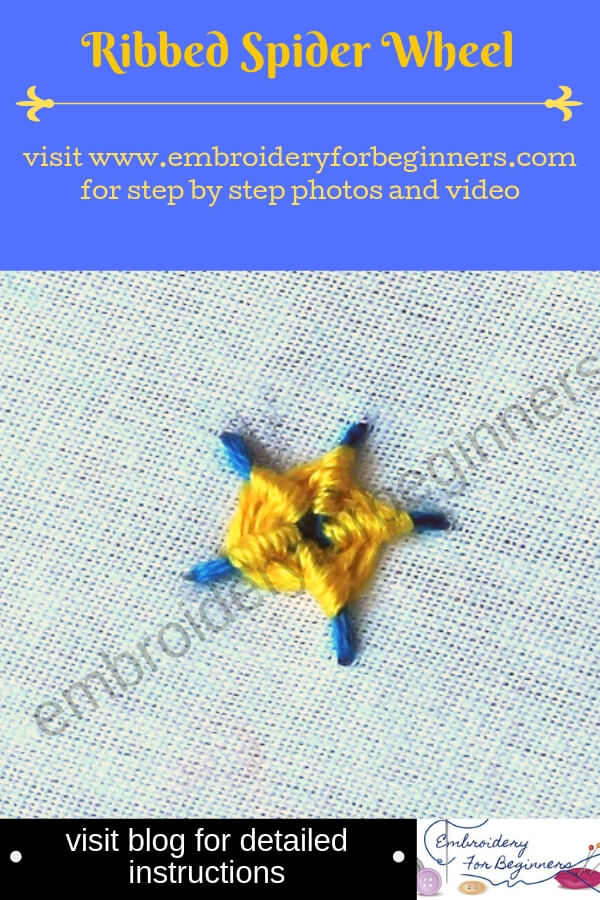visit blog for detailed instructions for working the ribbed spider wheel
