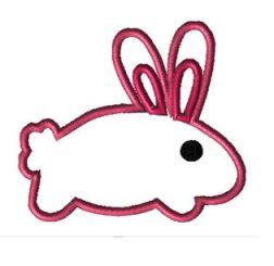 finished appliqued rabbit