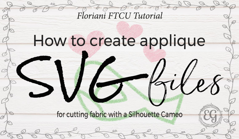 How to create SVG files with Floriani FTCU