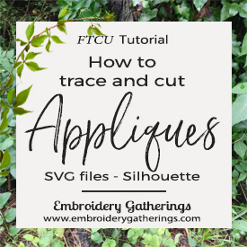 How to cut Applique shapes using SVG files and Silhouette