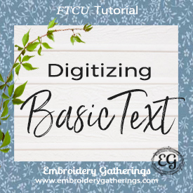 Digitizing Basic Text in Floriani FTCU