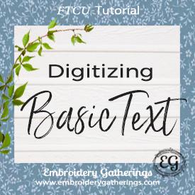 Digitizing Basic Text in Floriani FTCU