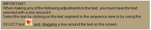 FTCU text select tip