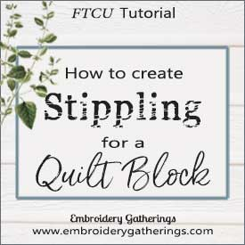 How to create Stippling for a Quilt Block