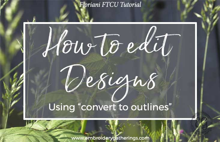how to resize and edit an embroidery design in FTCU