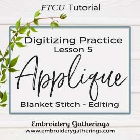 Practice your embroidery digitizing skills with this lesson about Applique