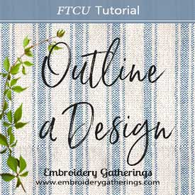 How to outline an embroidery design
