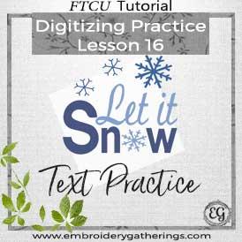 FTCU Practice Lesson 16 – Let it Snow Text