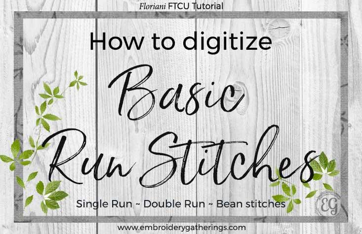 Floriani FTCU - how to digitize basic run stitches