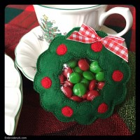 Machine Embroidered Christmas Candy Holder Set - Embroidery It