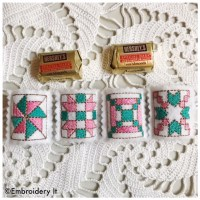 Machine Embroidery Candy Holder Quilt Block Nugget Squares ...