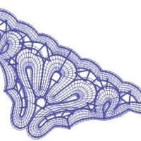 Battenberg corner lace - Free  design