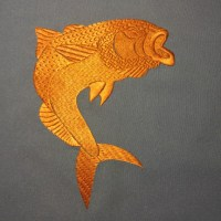 Golg fish - free machine embroidery design